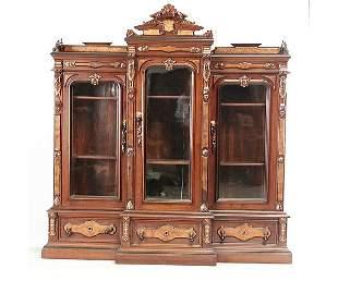 Renaissance Revival Walnut Bookcase