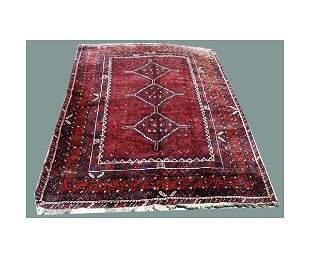 "Persian carpet. 9' 3"" x 6' 6""."