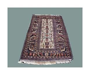"Persian carpet. 7' x 3' 10""."