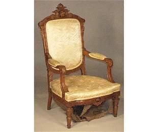 Victorian Walnut Armchair.