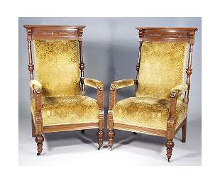 Pair of Victorian Lodge Chairs.