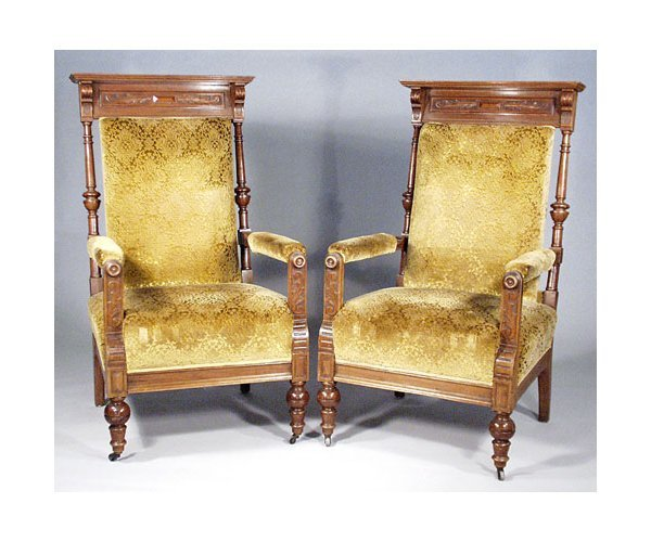 16: Pair of Victorian Lodge Chairs.