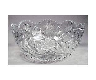 Cut Glass Lead Crystal Bowl.