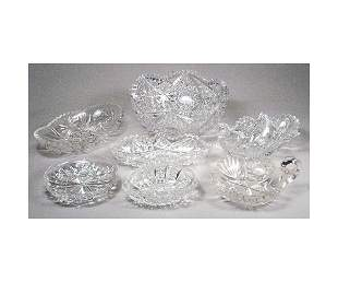 Cut Glass Nut Dishes.