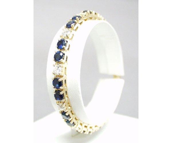 218: Gem Quality Sapp/Dia Bracelet