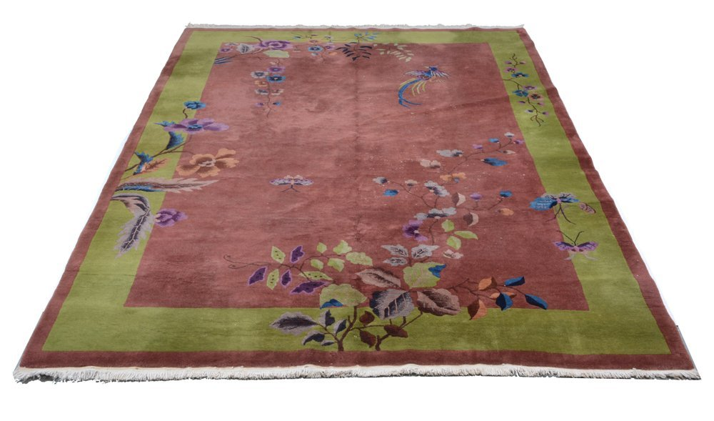 """Antique Chinese Roomsize Carpet, 11' x 8' 2"""""""