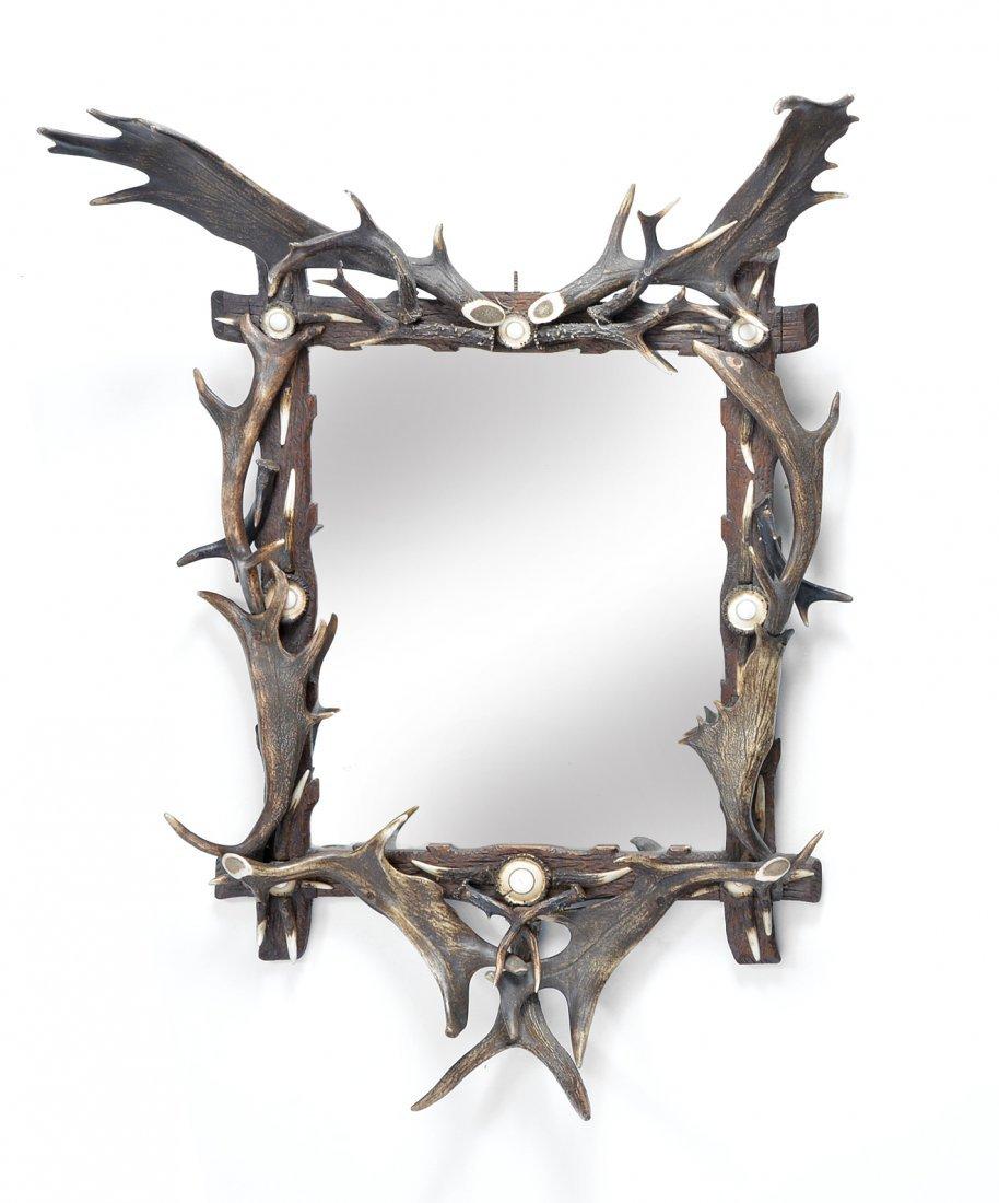 Antler Framed Mirror