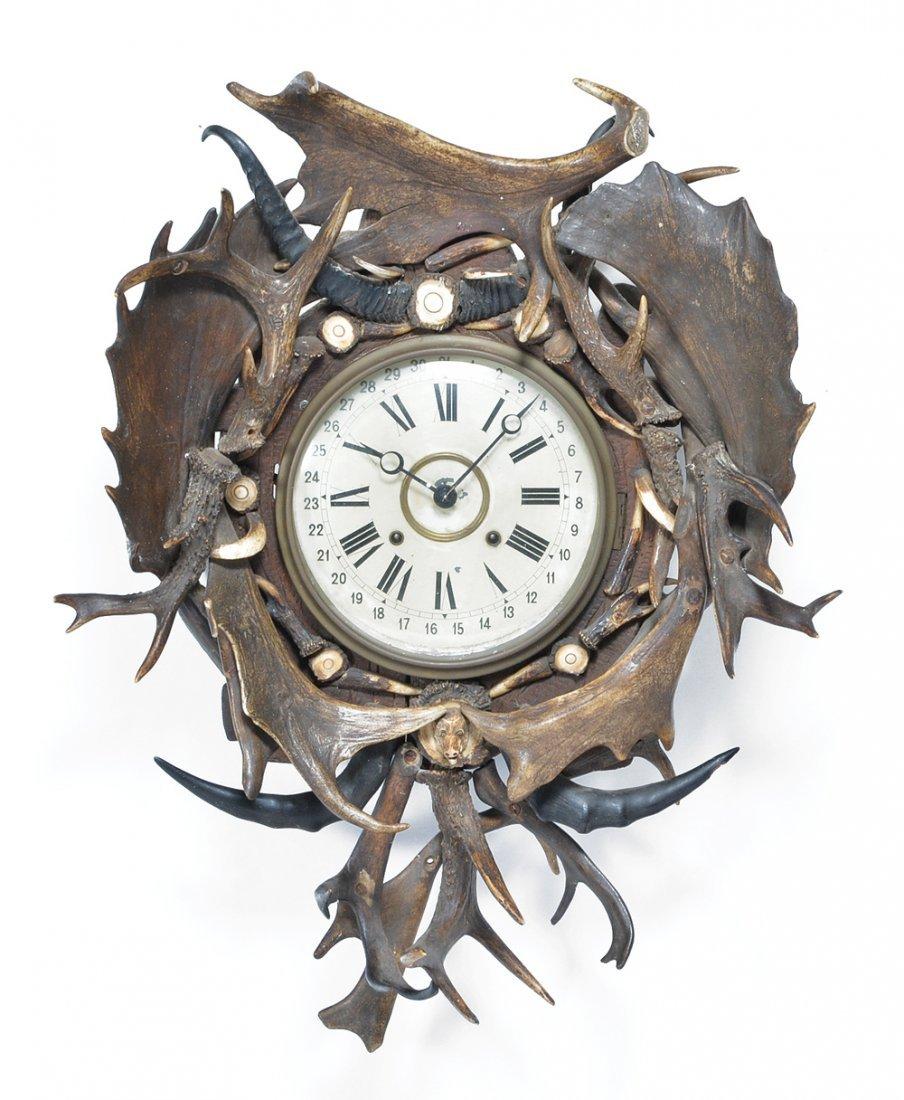 Antler Framed Clock