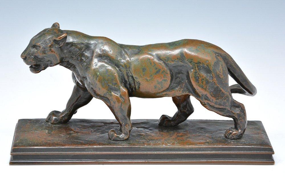 Antoine-Louis Barye, Jaguar Bronze, 19th c