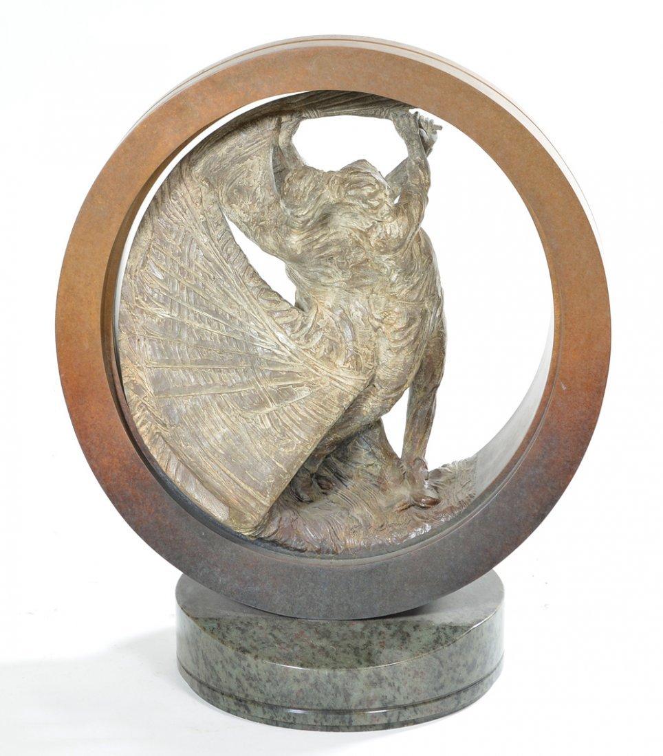 Richard MacDonald U.S. Open bronze golf trophy, 42/100