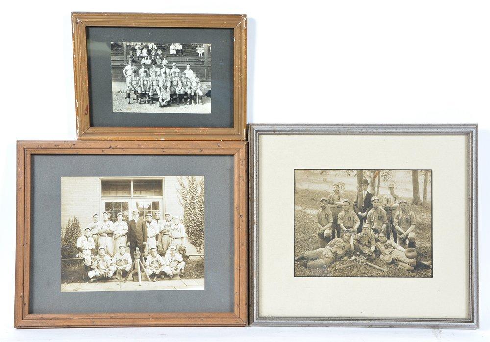3 1920's baseball team photos