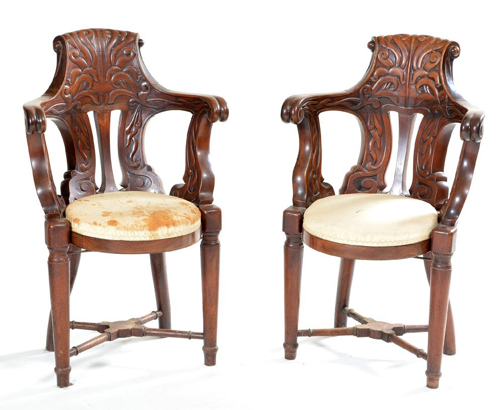 Pair of boat salon chairs