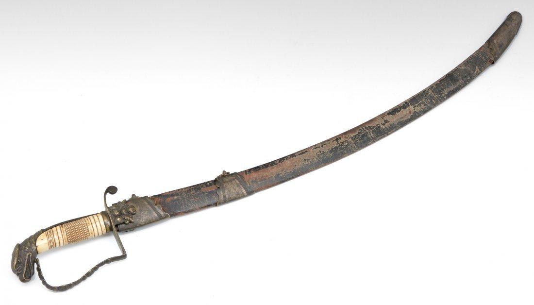 "Early 19th c American naval sword, 36"""