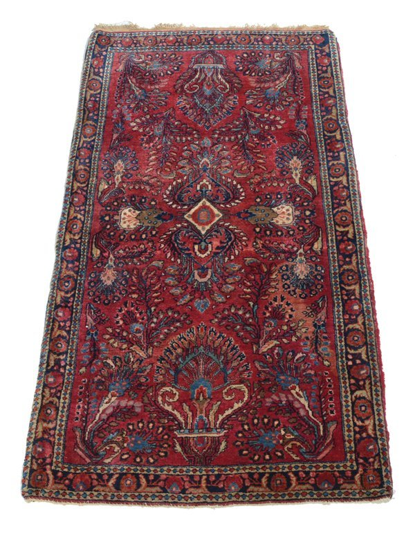 "Sarouk scatter rug, 5' x 2'7"""