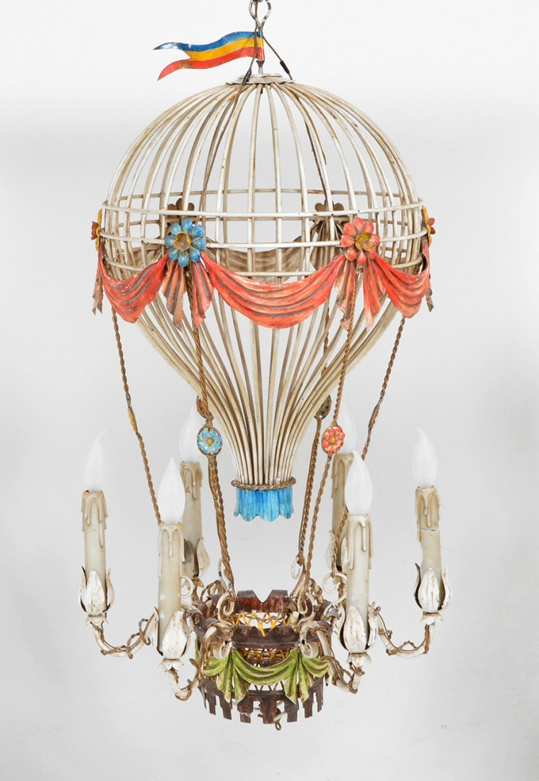 whimsical hot air balloon form chandelier 36""