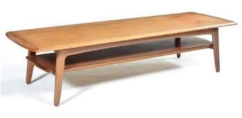 Danish Modern teak coffee table, Madsen for Lindegaard