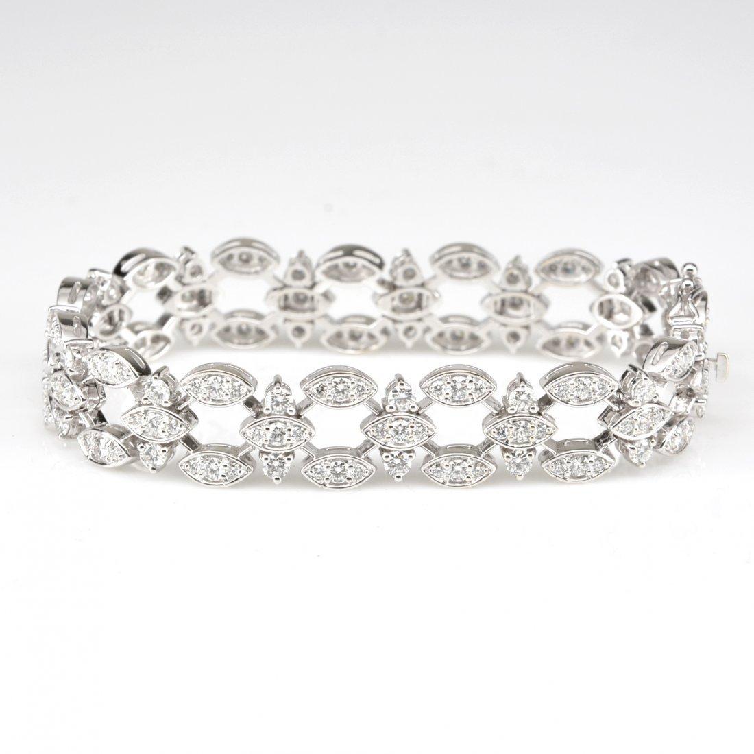 Spectacular 18k White Gold Diamond Bracelet