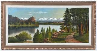 John Englehart painting, Sierra lake landscape