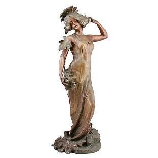 L. Alliot Figural Lamp.
