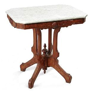 Victorian Marble Top Table.