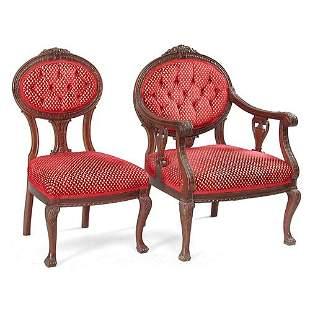 Two Walnut Chairs.