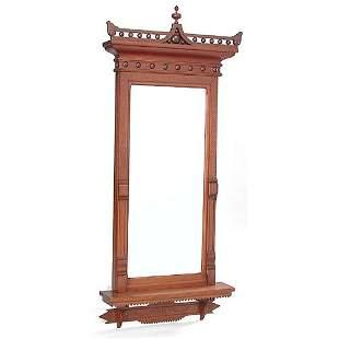 Eastlake Victorian Hall Mirror.
