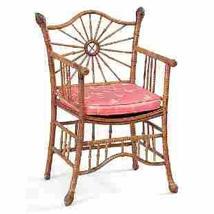 Sunburst Bamboo Chair.