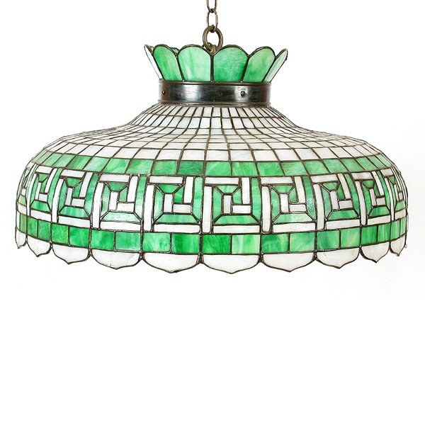 1: Geometric Stained Gass Hanging Light