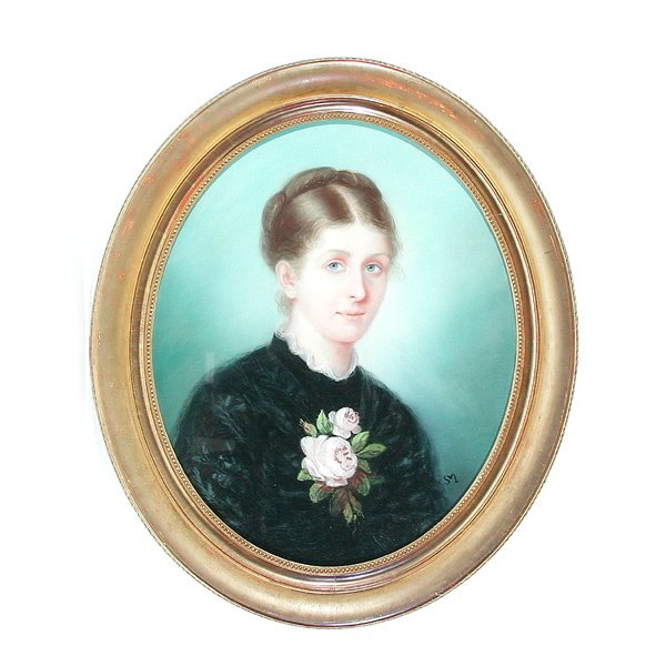 5: Pastel of French Lady Circa 1890