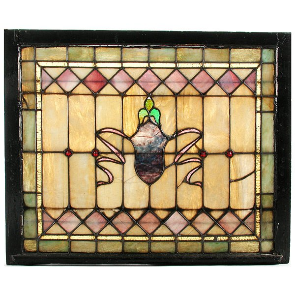 21: Stained and Leaded Glass Window