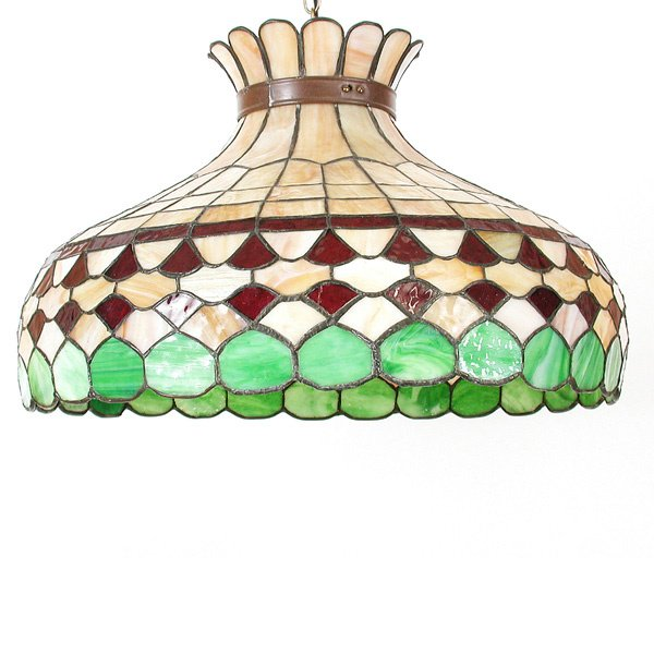 23: Stained & Leaded Glass Light Fixture