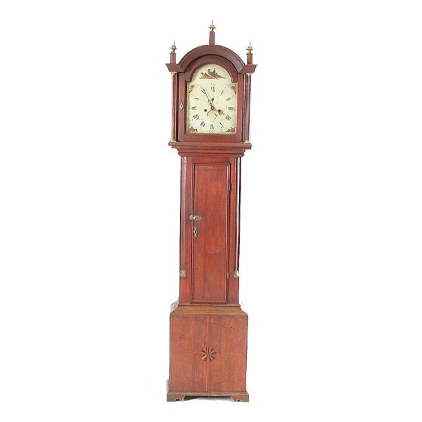 269: English Tall Case Clock with Painted Dial