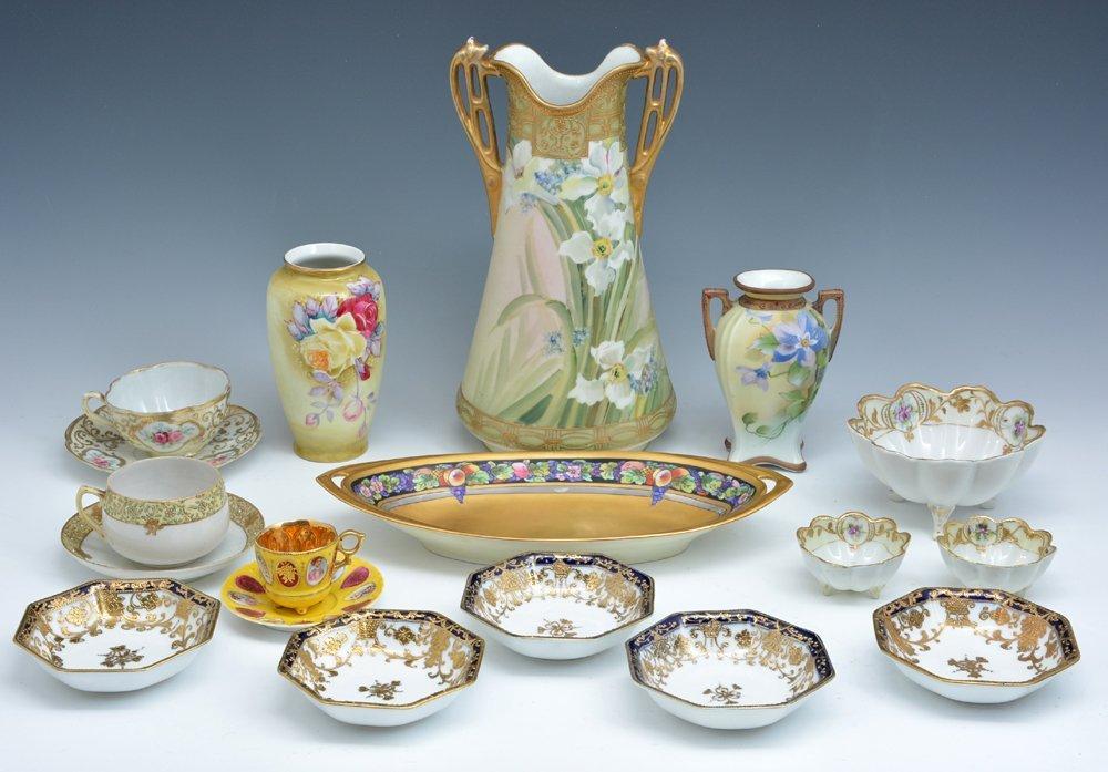 Lot of Nippon & Japanese Handpainted Porcelain