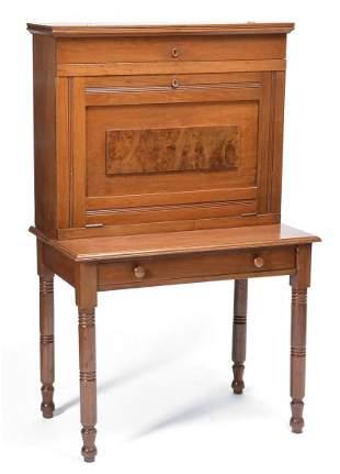 Victorian walnut Eastlake drop front desk