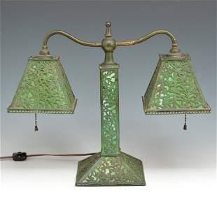 Riviere Studios Slag Glass Overlay Table Lamp