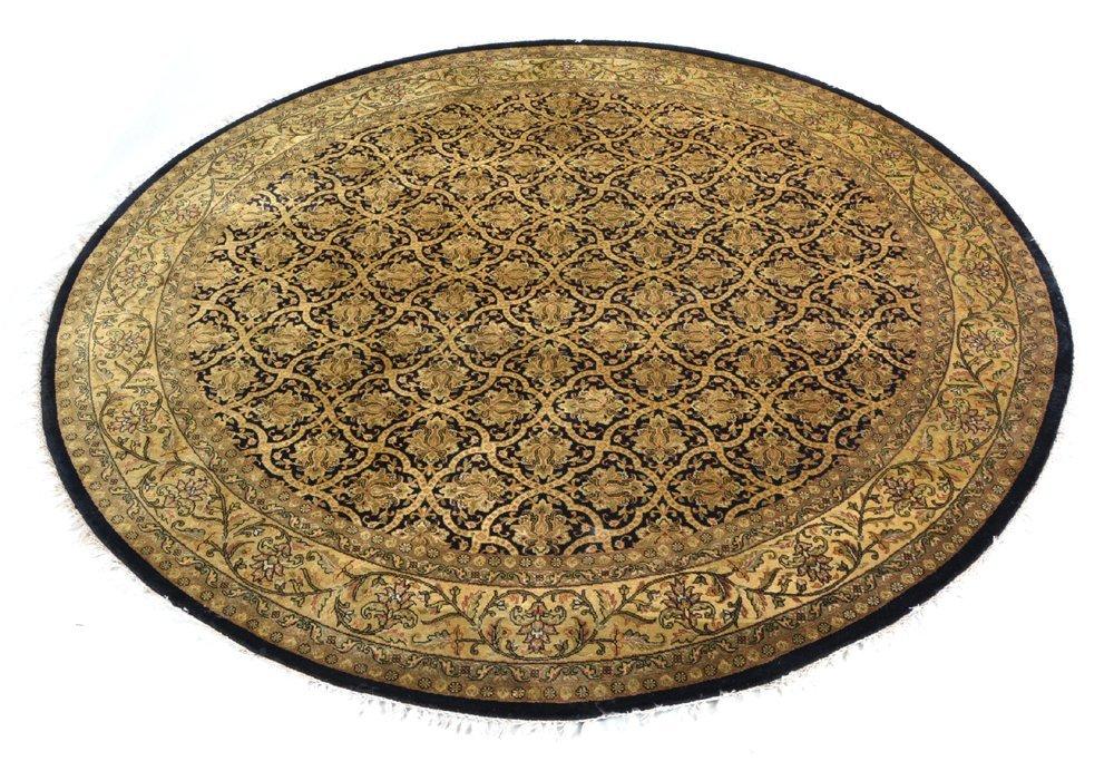 Persian round entry carpet, 8' dia