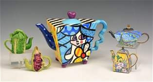Lot of 5 Teapots