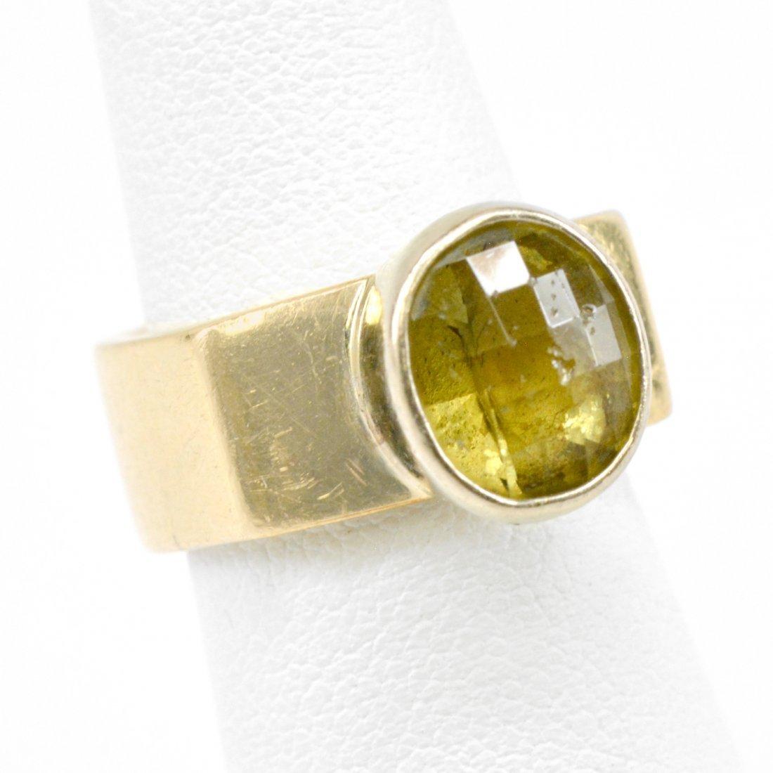 18k Gold Mali Grandite Ring