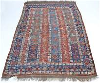 """Antique Persian Scatter Rug, 7'2"""" x 4'7"""""""