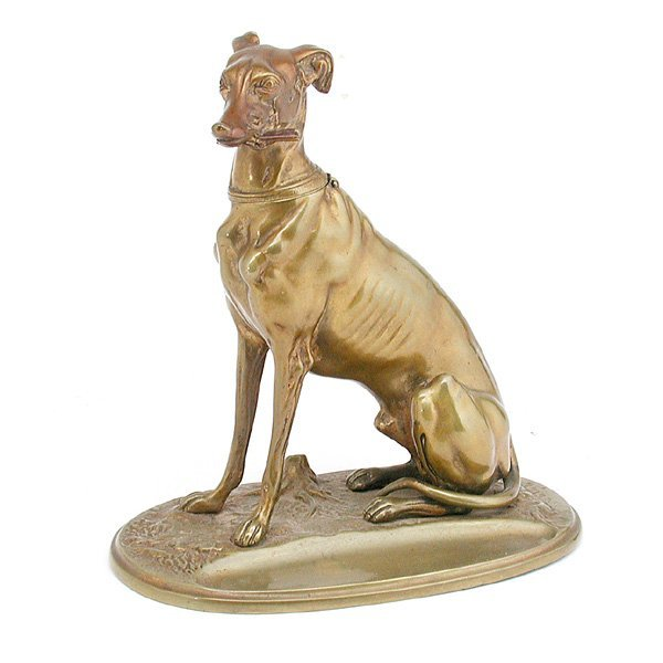 5: Austrian Bronze Greyhound Inkwell