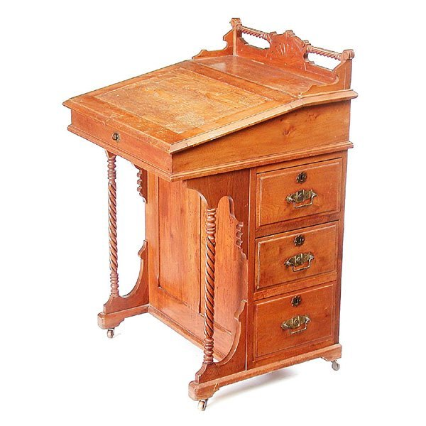 6: Eastlake Fruitwood Davenport Desk