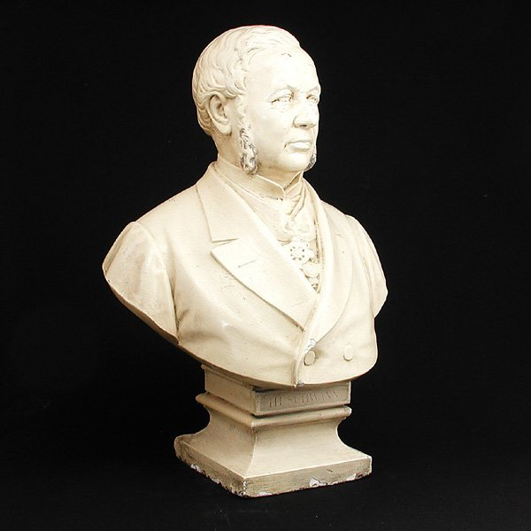20: Painted Plaster Bust of a Gentleman