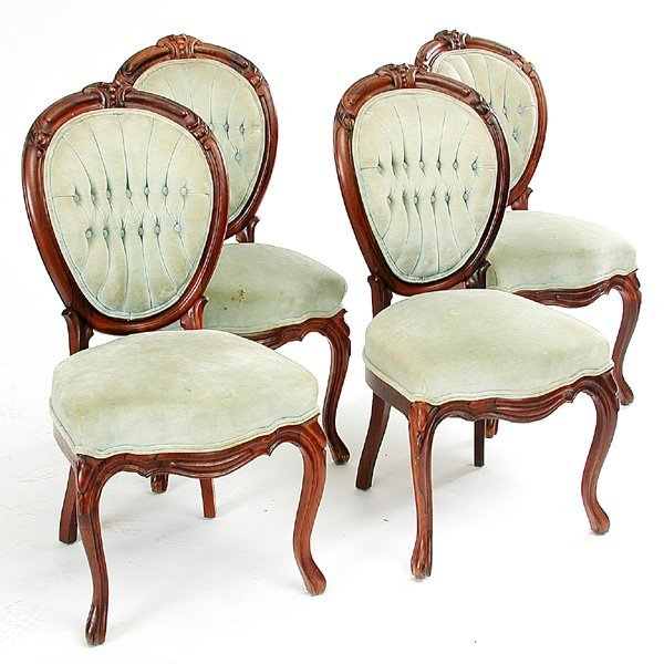 21: Set of Four Rosewood Parlor Chairs