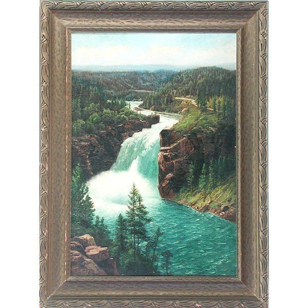 345: H.H. Bagg American Painting Yellowstone River