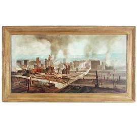 347: Gremke, S F Earthquake American Painting