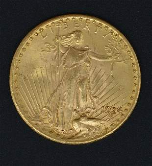 924 $20 St Gaudens Double Eagle Gold Coin