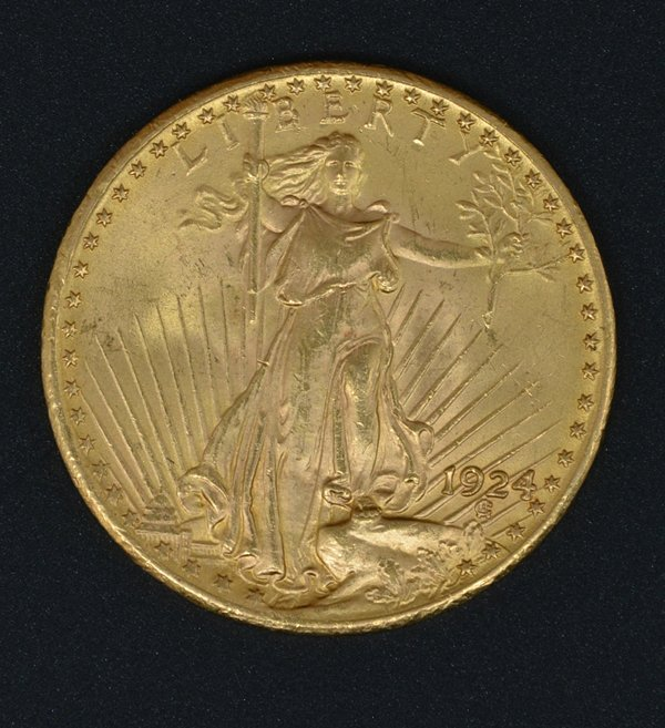 1924 $20 St Gaudens Double Eagle Gold Coin
