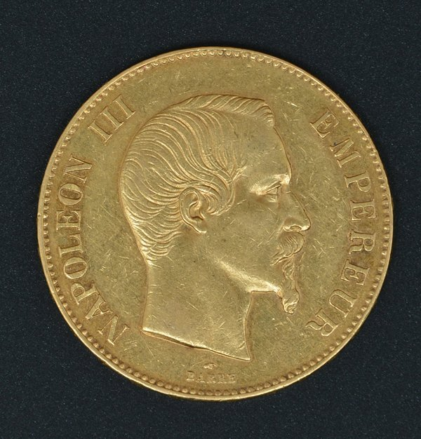France Napoleon III Gold 100 Francs 1858A