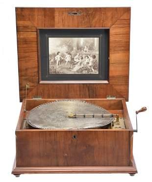 Polyphon Disc Music Box W/Discs, c 1900