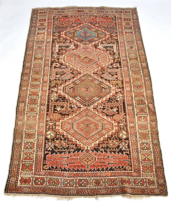 "Persian Carpet, 7' 8"" x 4' 2"""